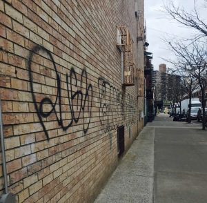This picture shows some graffiti in Brooklyn, New York