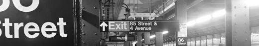 Subway signs in black and white